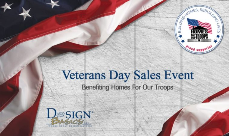 Design Basics Veterans Day Sales Event @ Design Basics | Omaha | Nebraska | United States