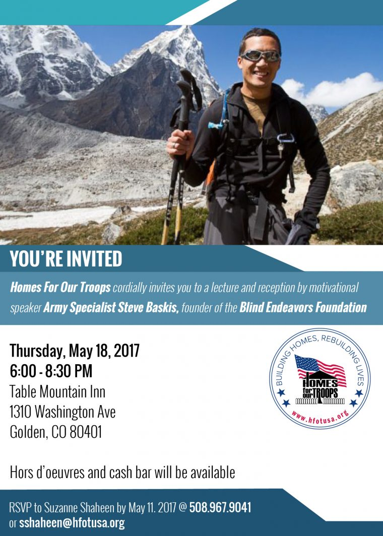 Lecture by Army Specialist Steve Baskis @ Table Mountain Inn | Golden | Colorado | United States