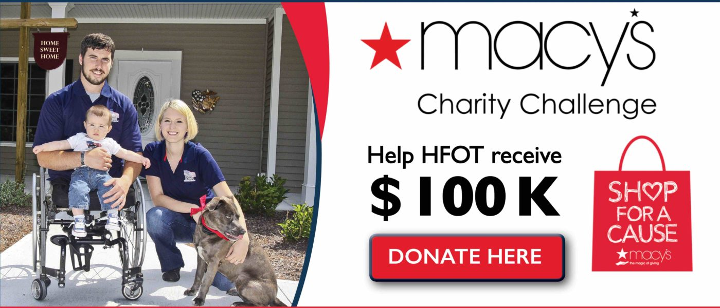 Home for our Troops Macy's Shop for a Cause Challenge