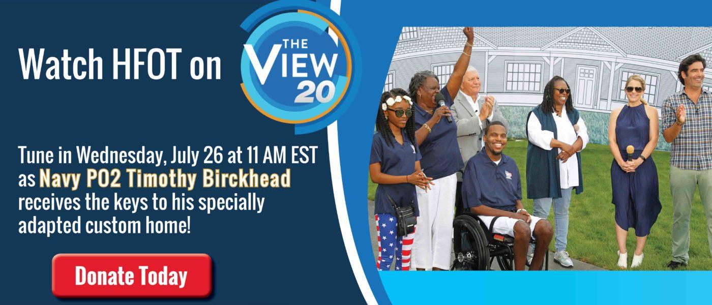 Watch Navy PO2 Timothy Birckhead's Key Ceremony on The View!