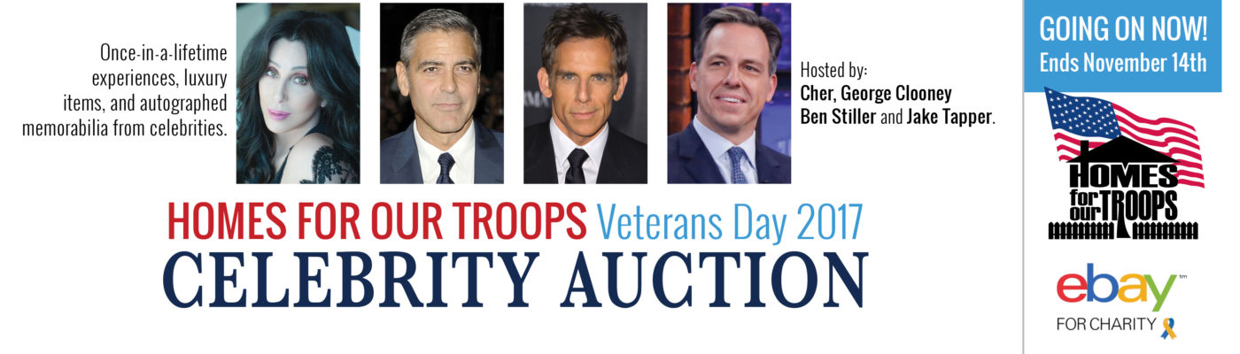 Homes For Our Troops Celebrity Veterans Day Auction