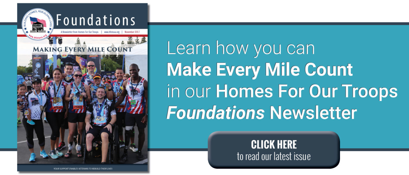 Homes For Our Troops Foundations Newsletter for November 2017