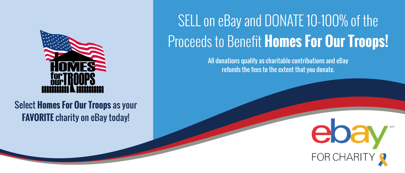 Sell on eBay to benefit Homes For Our Troops