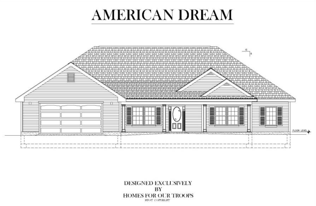 Home For Our Troops - American Dream accessible home floor plan