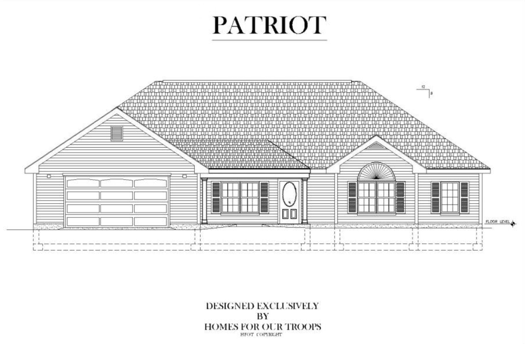 Home For Our Troops - Patriot accessible home floor plan