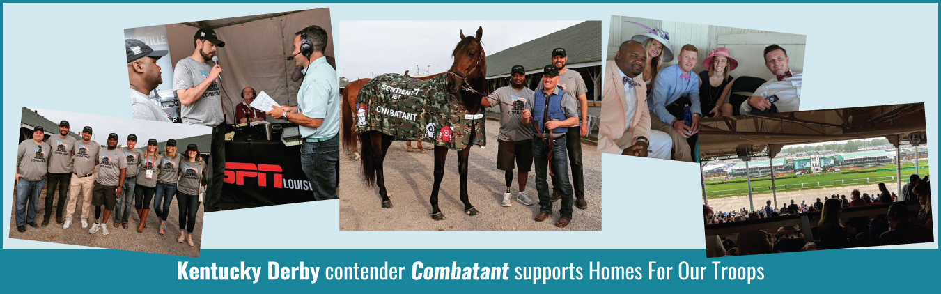 Kentucky Derby contender Combatant supports Homes For Our Troops