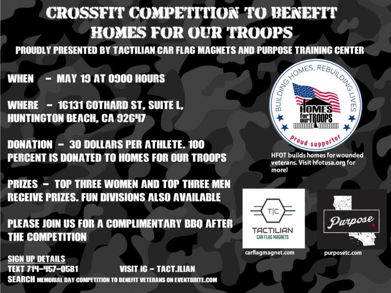 Purpose Fitness Center Memorial day Fitness Competition @ Purpose Fitness Center | Huntington Beach | California | United States
