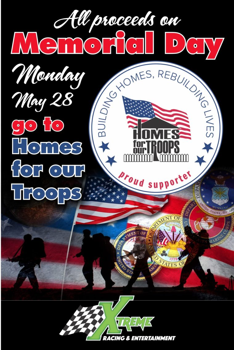Xtreme Racing and Homes For Our Troops Fundraiser @ Xtreme Racing & Entertainment | Wichita | Kansas | United States