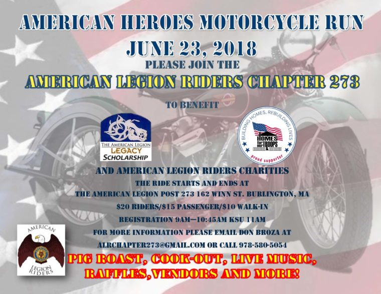 American Heroes Ride 2018 @ American Legion Post 273 | Burlington | Massachusetts | United States