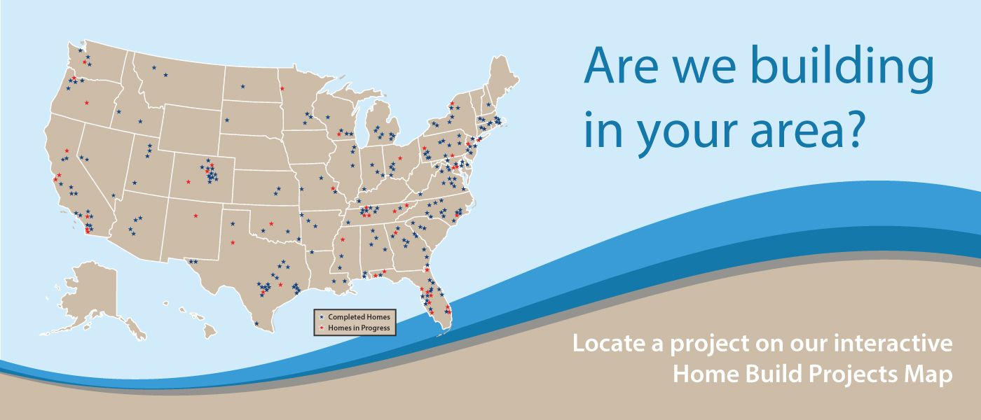 Homes For Our Troops Build Location Map