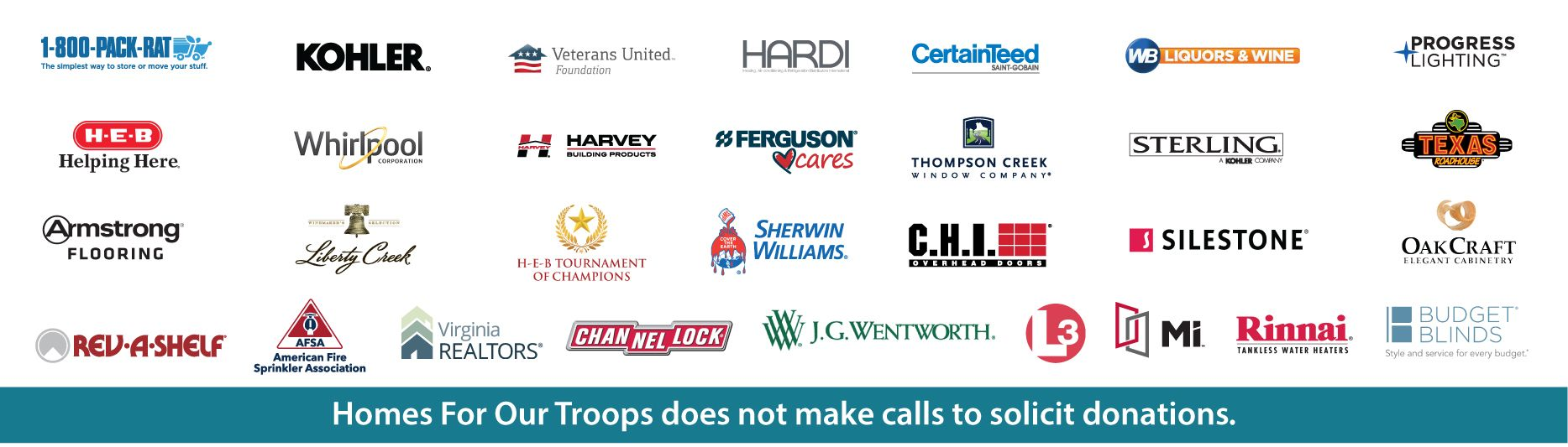 Homes For Our troops Corporate Partners