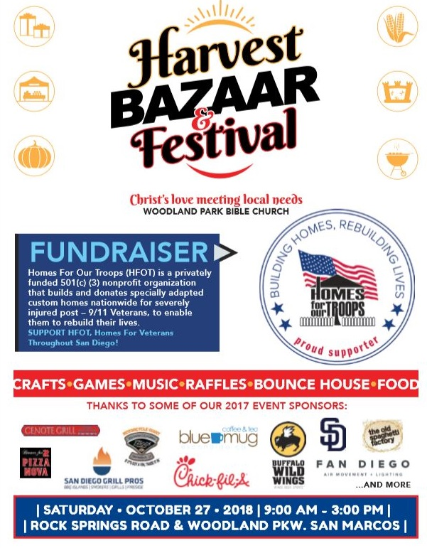 Harvest Bazaar & Festival @ Woodland Park Bible Church | San Marcos | California | United States