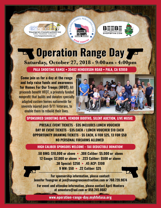 Operation Range Day @ Pala Shooting Range | Pala | California | United States