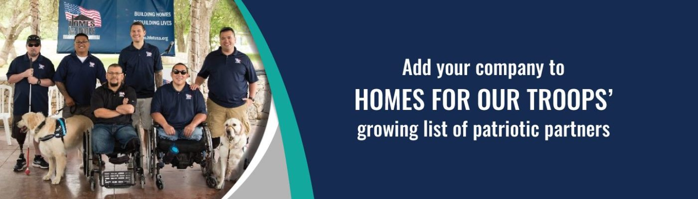Our Corporate Partners provide 80 percent of the products used in our homes.