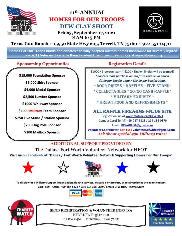 11th Annual DFW Clay Shoot @ Texas Gun Ranch | Terrell | Texas | United States