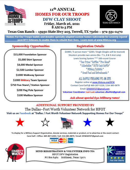 11th Annual DFW Clay Shoot @ Texas Gun Ranch | Terrell | Texas | United States