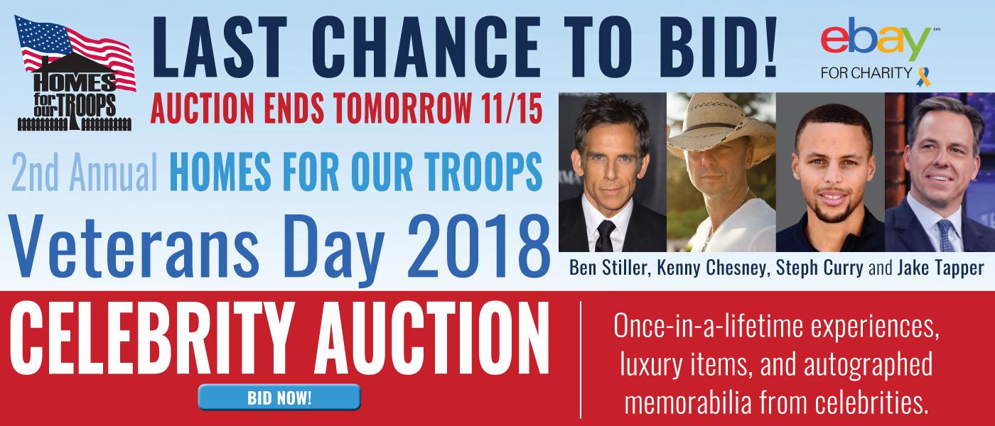 HFOT Veterans Day Celebrity Auction