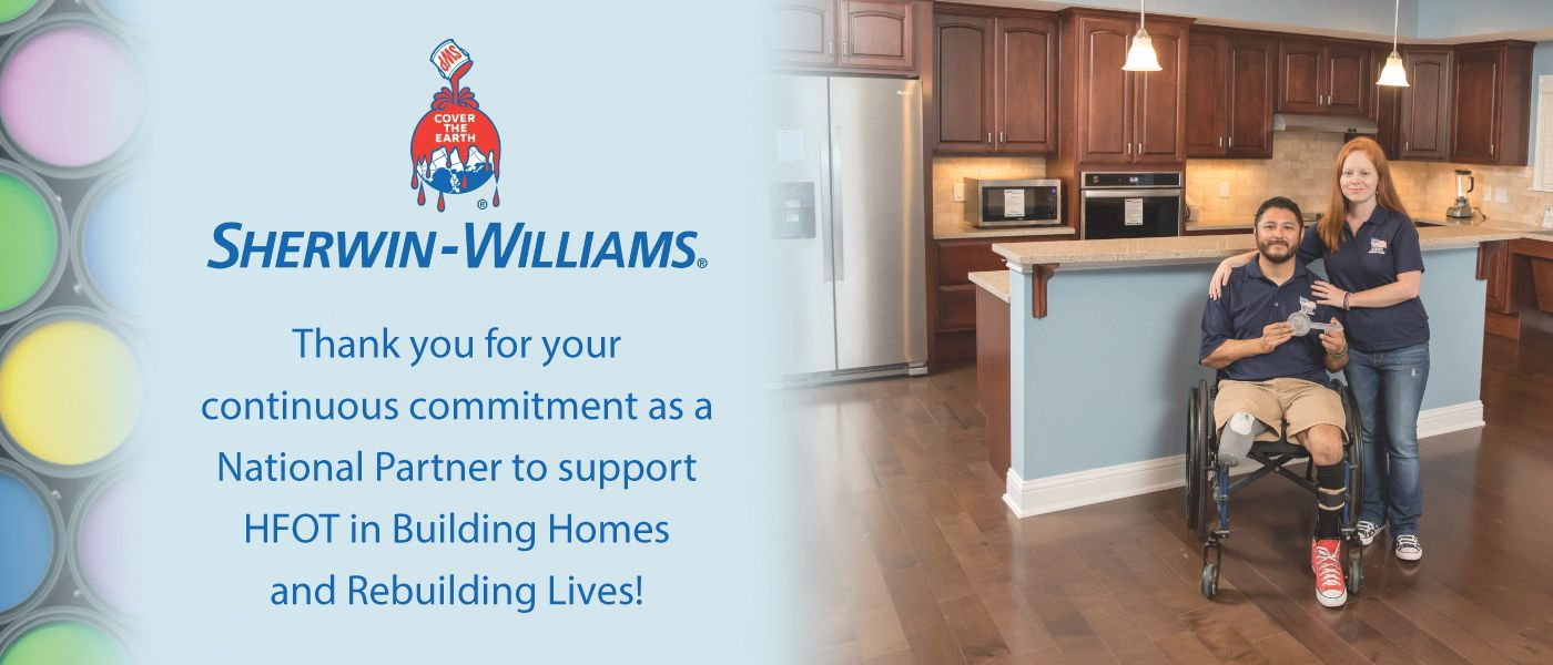 HFOT thanks Sherwin Williams