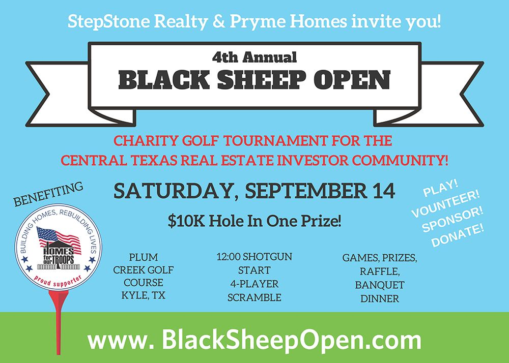 4th Annual Black Sheep Open @ Plum Creek Golf Course | Kyle | Texas | United States