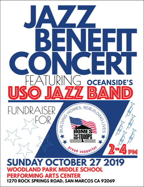 Jazz Benefit Concert featuring Oceanside's USO Jazz Band @ Woodland Park Middle School Performing Arts Center | Melbourne | Florida | United States