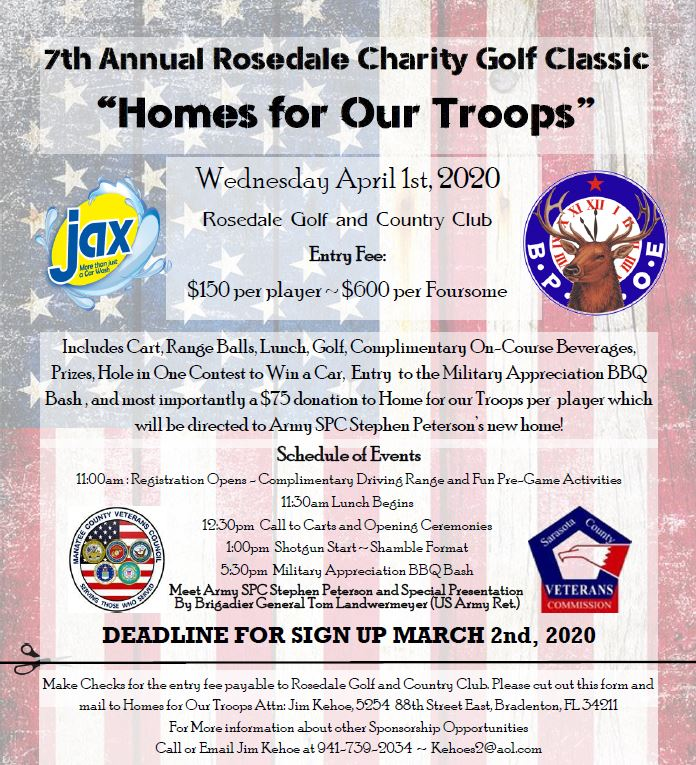 7th Annual Rosedale Charity Golf Classic @ Rosedale Golf & Country Club | Bradenton | Florida | United States