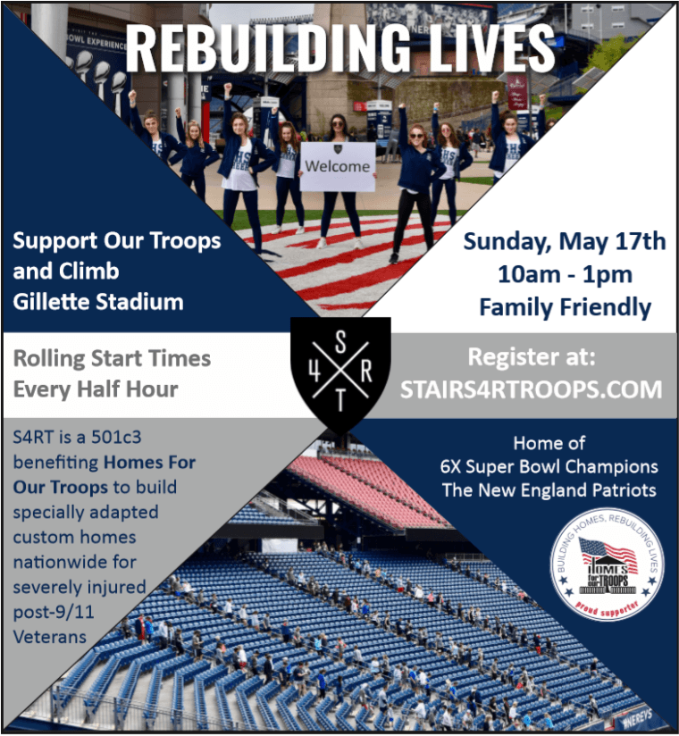Support Our Troops - Climb - Gillette Stadium