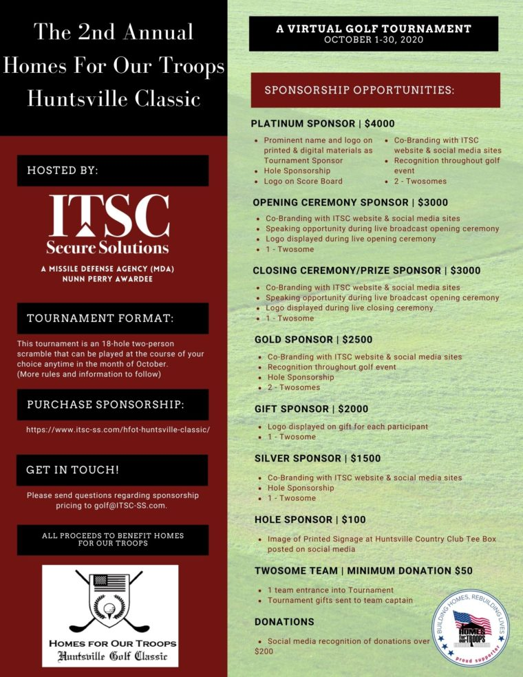 2nd Annual Huntsville Classic @ Any Golf Course Worldwide