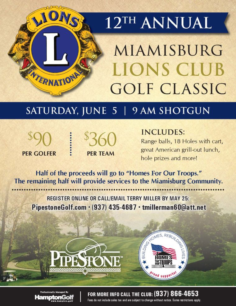 Miamisburg Lions Club Golf Tournament @ Pipestone Golf Club | Miamisburg | Ohio | United States