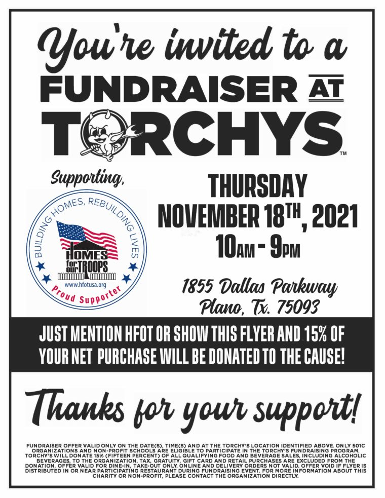 Plano, TX - Torchys Tacos Fundraiser @ Torchy's | Plano | Texas | United States